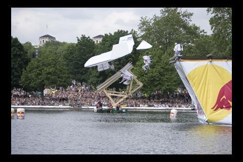 The Cullinan Bird came 5th at the Red Bull Flugtag tournament